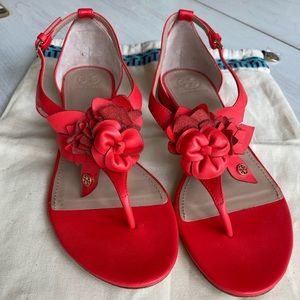 Tory Burch Blossom Flat Floral Sandal